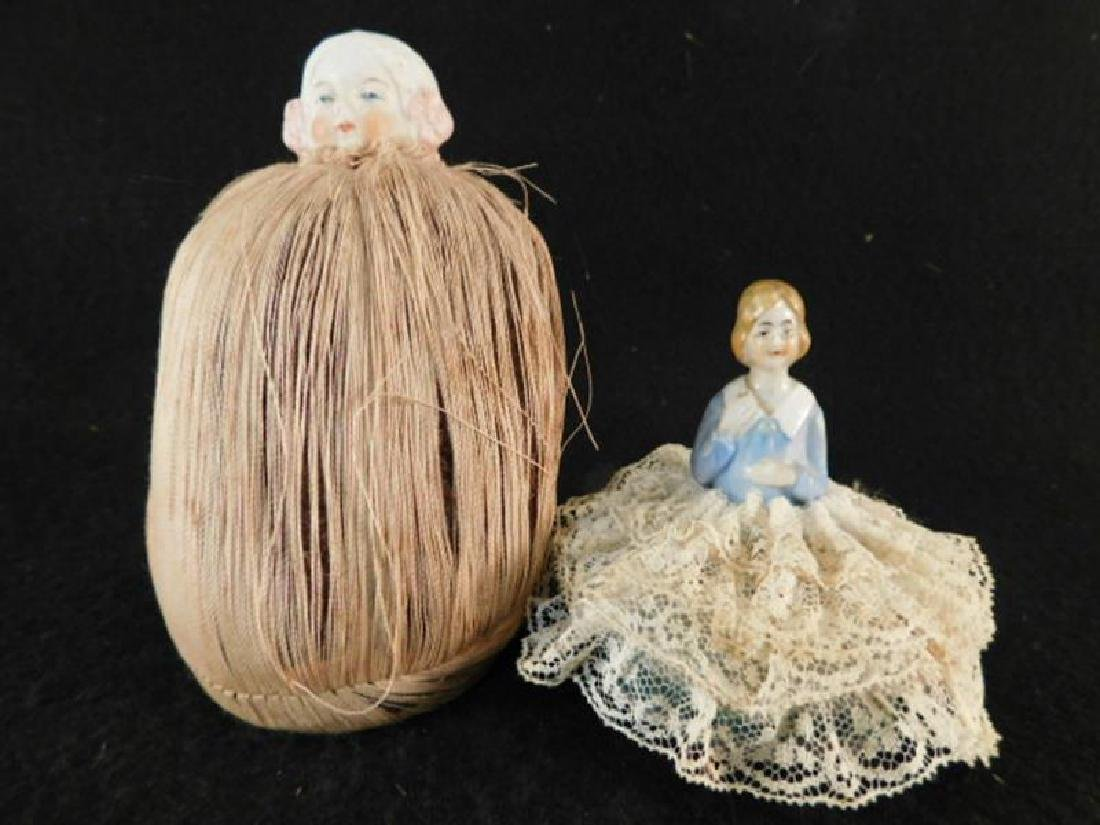 PIN CUSHIONS SEWING COLLECTIBLE VICTORIAN ERA ANTIQUE