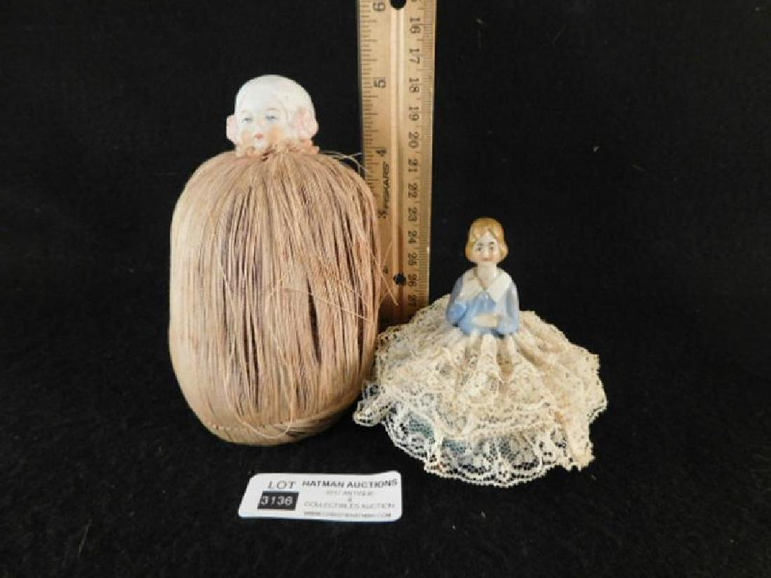 PIN CUSHIONS SEWING COLLECTIBLE VICTORIAN ERA ANTIQUE - 2