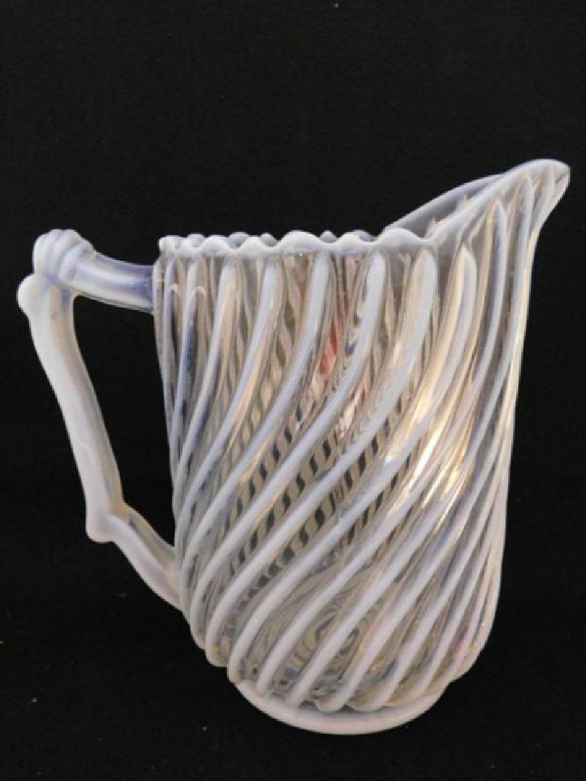 GONTERMAN SWIRL PITCHER EAPG VICTORIAN GLASS 1800'S