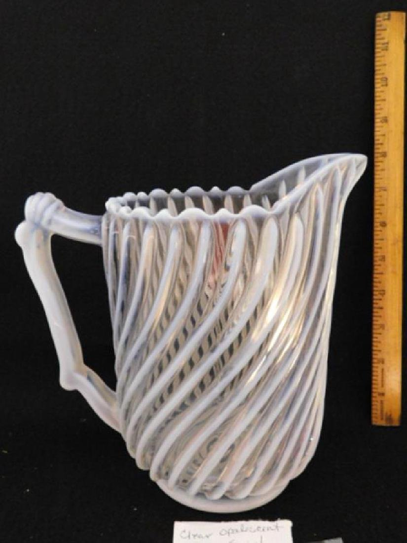 GONTERMAN SWIRL PITCHER EAPG VICTORIAN GLASS 1800'S - 3