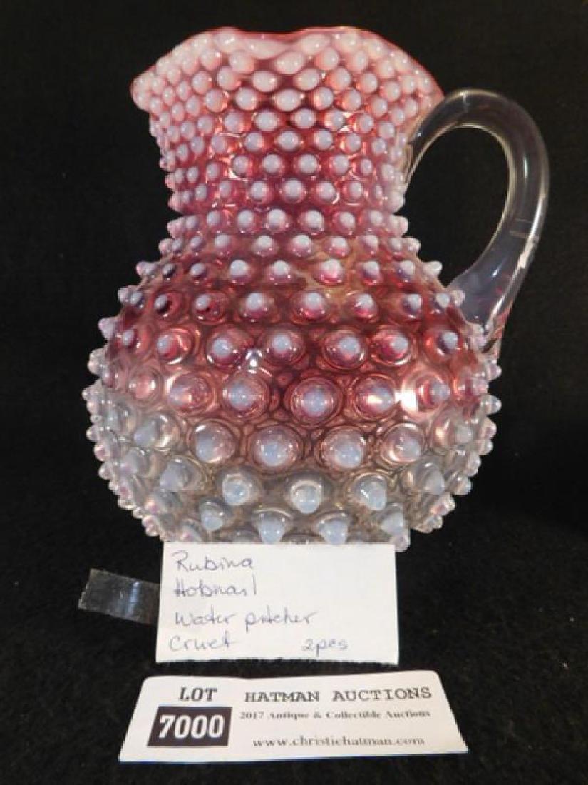 HOBBS BROCKNIERS HOBNAIL VICTORIAN GLASS 1800'S EAPG - 4