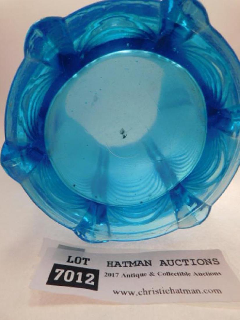 BLUE OPALESCENT DRAPE PITCHER EAPG 1800'S GLASS - 3