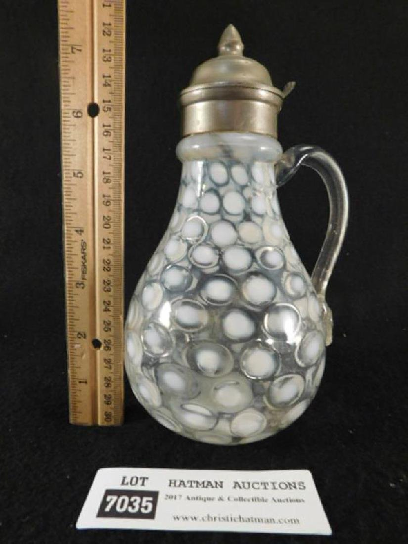 COIN DOT SYRUP PITCHER EAPG ANTIQUE VINTAGE VICTORIAN - 2