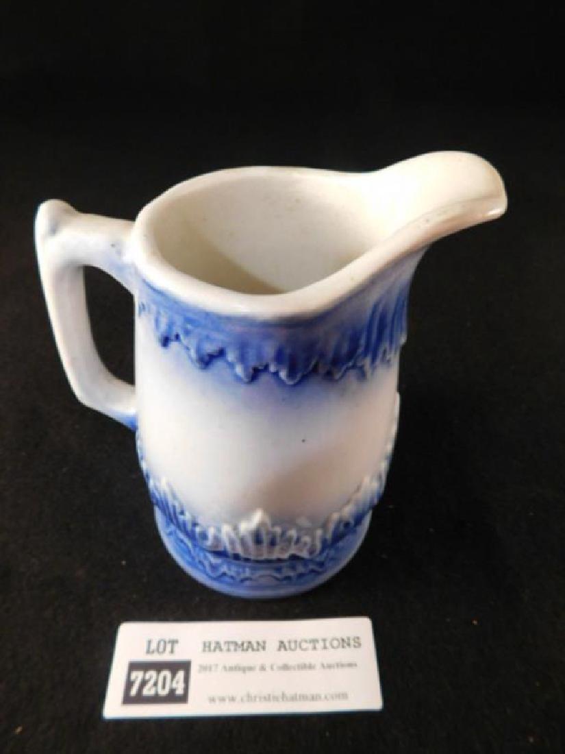 FLOW BLUE VICTORIAN PITCHER CREAMER - 3