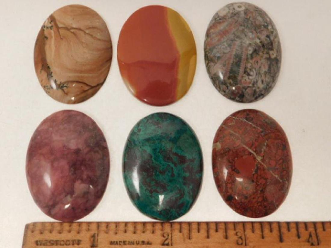 ASSORTED CABOCHONS ROCK STONE LAPIDARY SPECIMEN (Yes, - 2