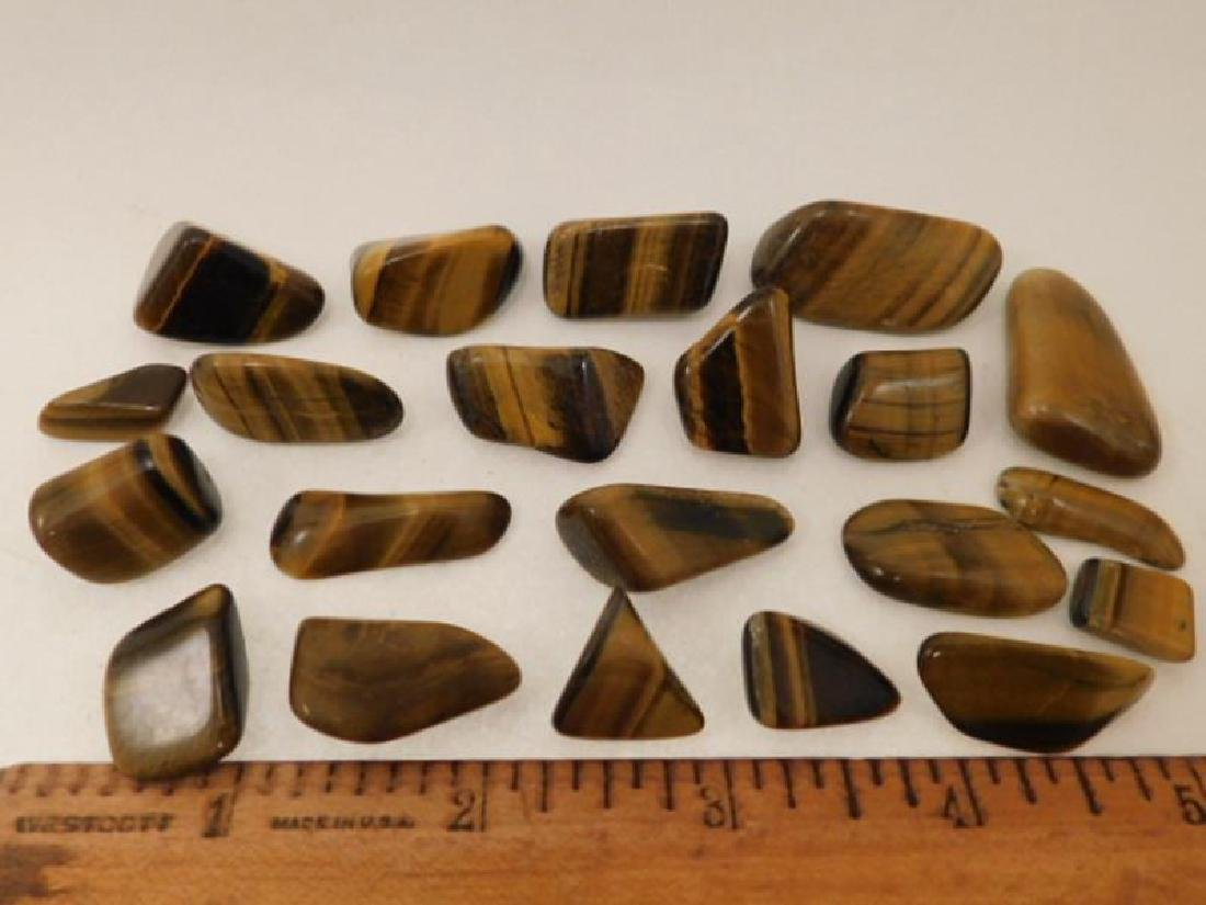 POLISHED TIGER EYE ROCK STONE LAPIDARY SPECIMEN (Yes, - 2
