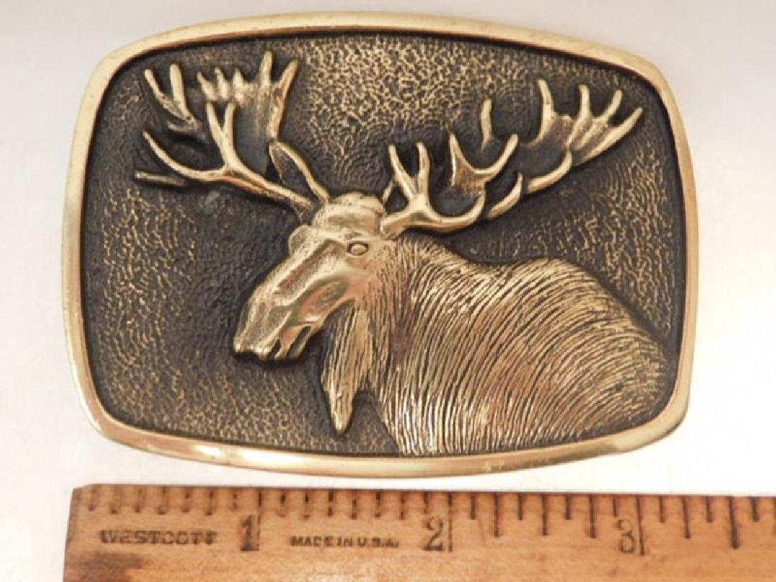 BELT BUCKLE 1970'S BRASS VINTAGE JEWELRY - 2
