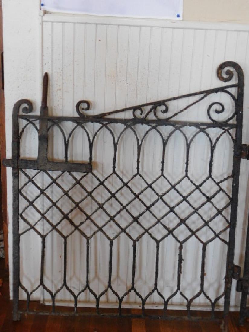 HEAVY WROUGHT IRON GARDEN GATE VICTORIAN 1800S VINTAGE