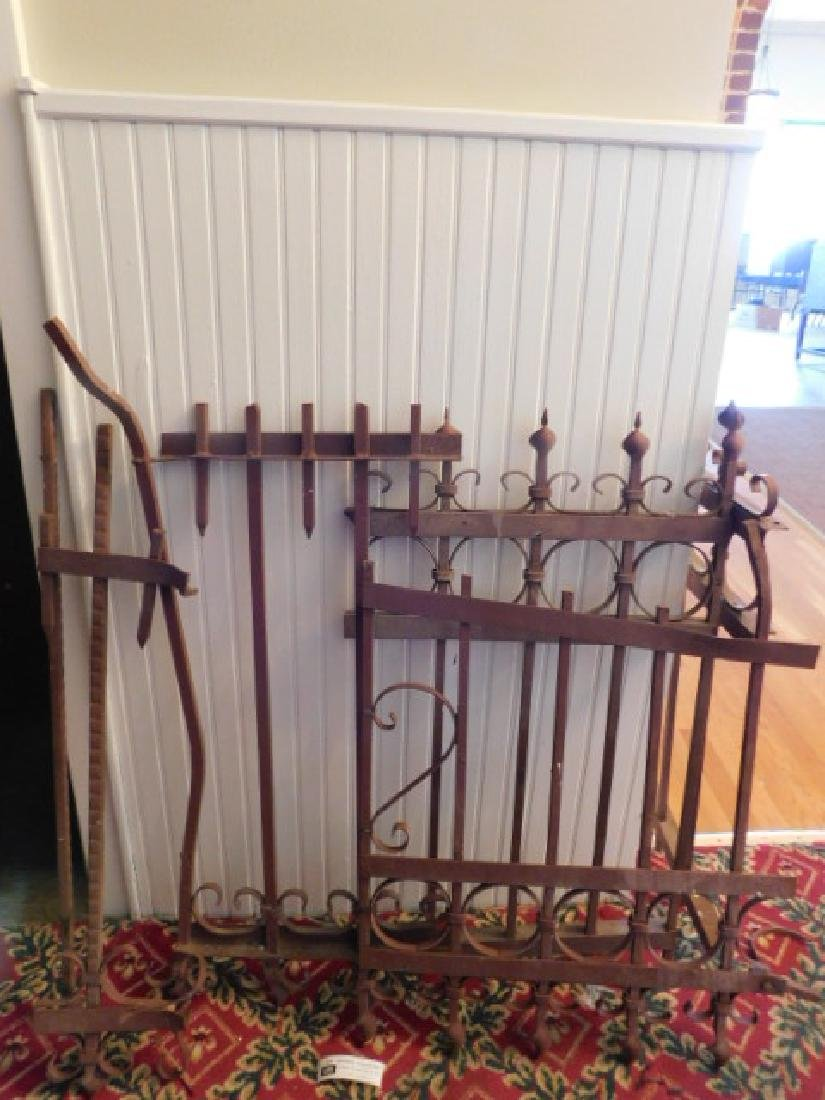 HEAVY WROUGHT IRON GARDEN GATE VICTORIAN 1800S VINTAGE