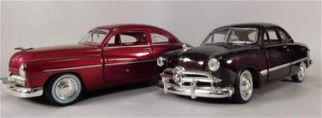 1947 MERCURY COUPE AND 1949 FORD COUPE DIE CAST CARS