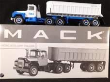 FIRST GEAR MACK R MODEL WITH DUMP TRUCK DIE CAST TRUCK
