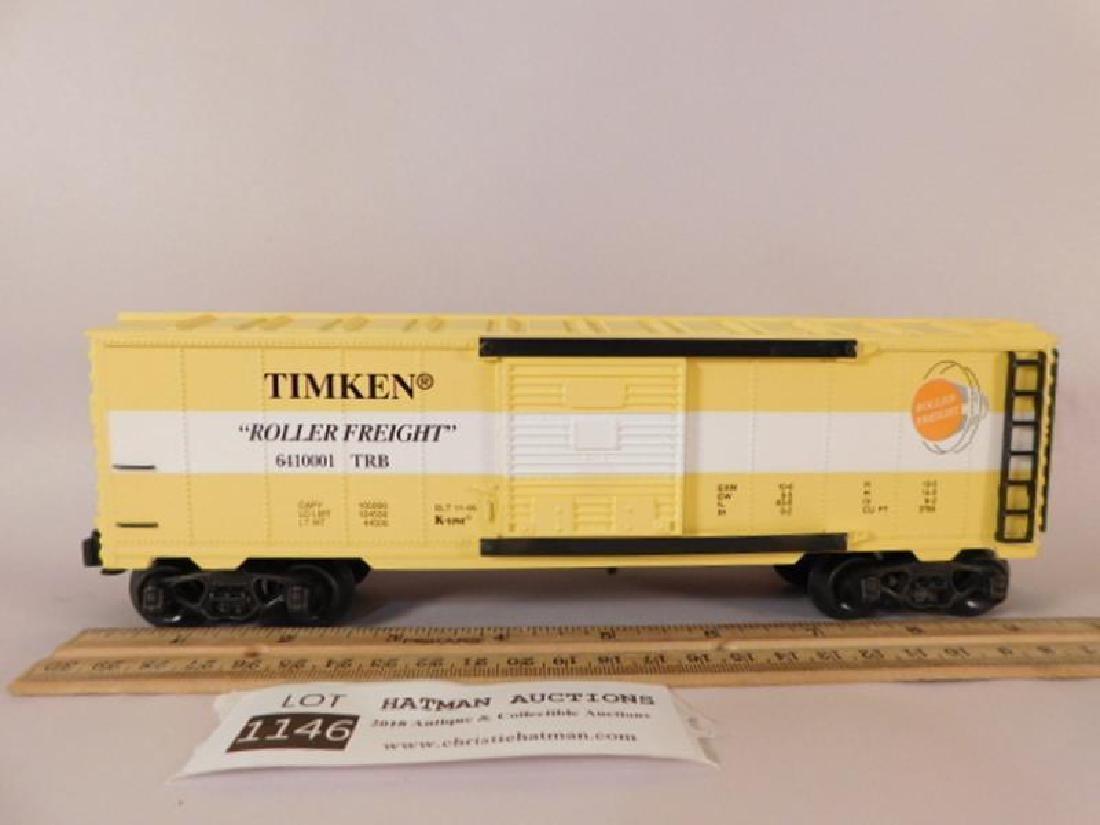 LIONEL TRAIN FREIGHT K-LINE FREIGHT CAR TIMKEN ROLLER - 3