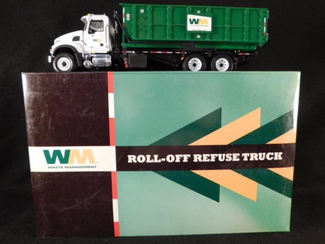 WASTE MANAGEMENT ROLL OFF REFUSE TRUCK ANTIQUES AND