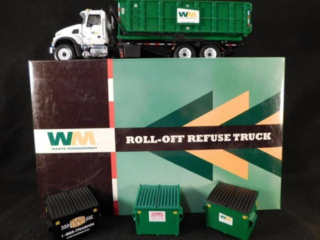 WASTE MANAGEMENT ROLL OFF REFUSE TRUCK ANTIQUES AND - 2