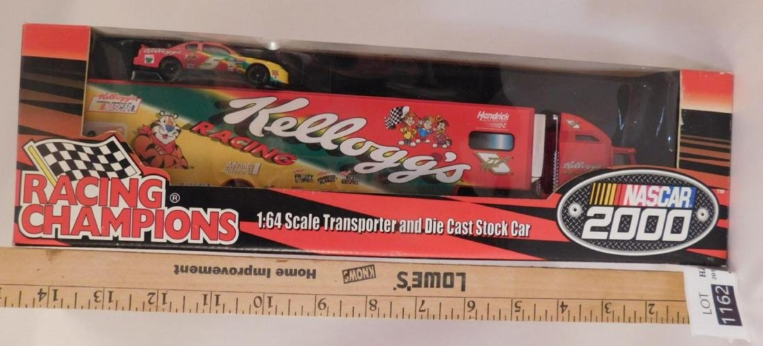 KELLOGS RACING CHAMPIONS TRANSPORTER AND DIE CAST STOCK - 2
