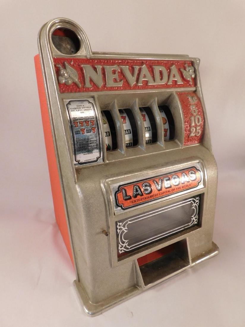 NEVADA TOY  SLOT MACHINE VINTAGE ANTIQUE