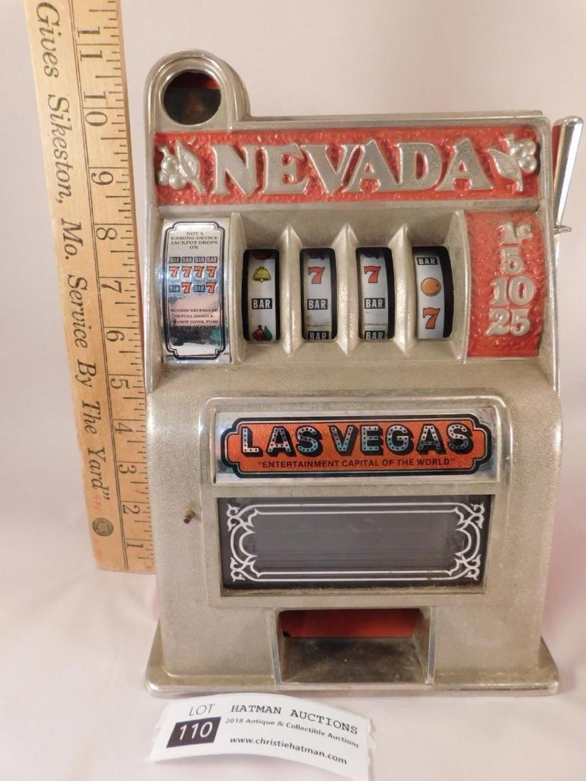 NEVADA TOY  SLOT MACHINE VINTAGE ANTIQUE - 2