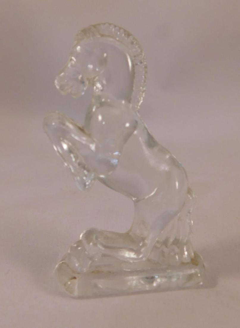 GLASS HORSE FIGURINE VINTAGE ANTIQUE