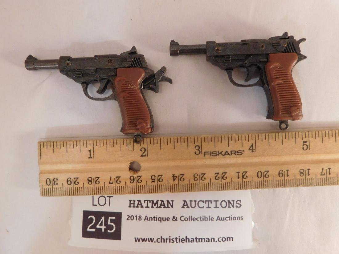 TINY TOY METAL OPERATIONAL CAP GUNS VINTAGE ANTIQUE - 2