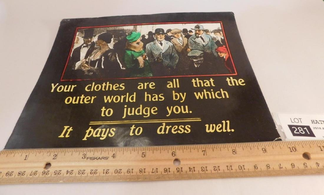 ADVERTISING VINTAGE ANTIQUE CLOTHING POSTER - 3