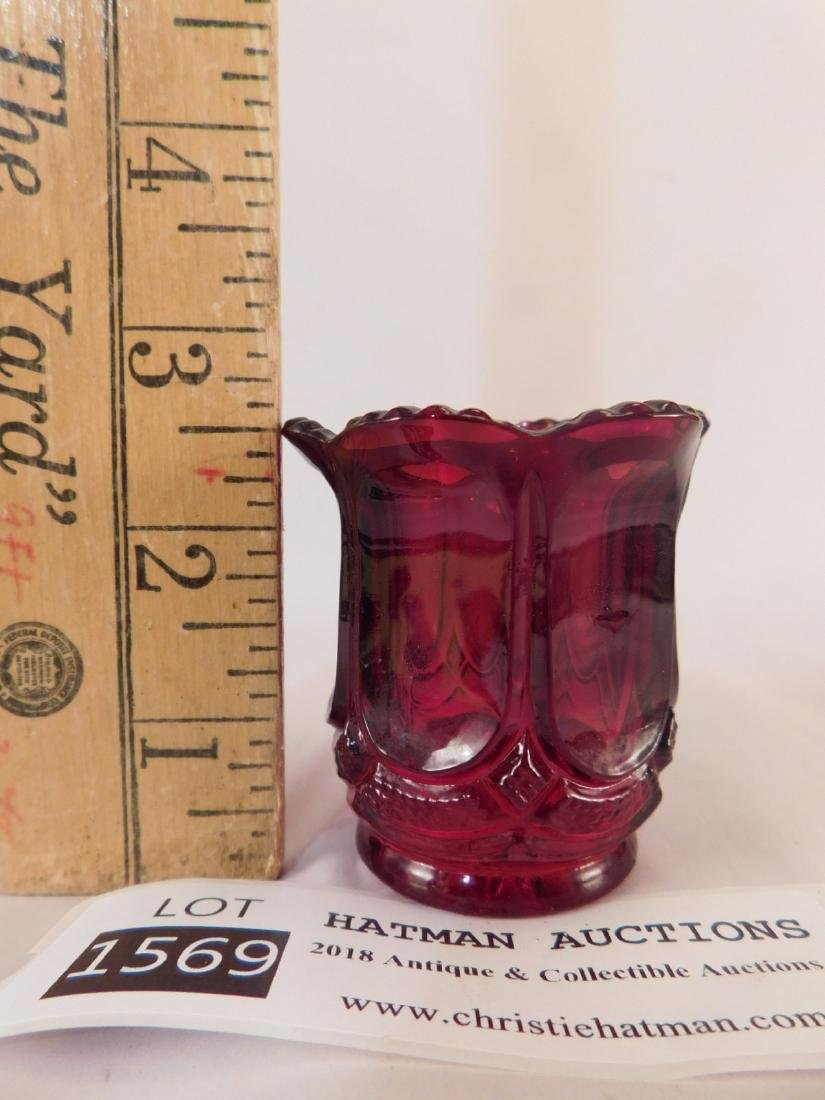 RED TOOTHPICK HOLDER GLASS - 3