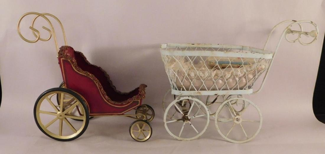 DOLL BUGGIES TOYS VINTAGE ANTIQUE ORNATE