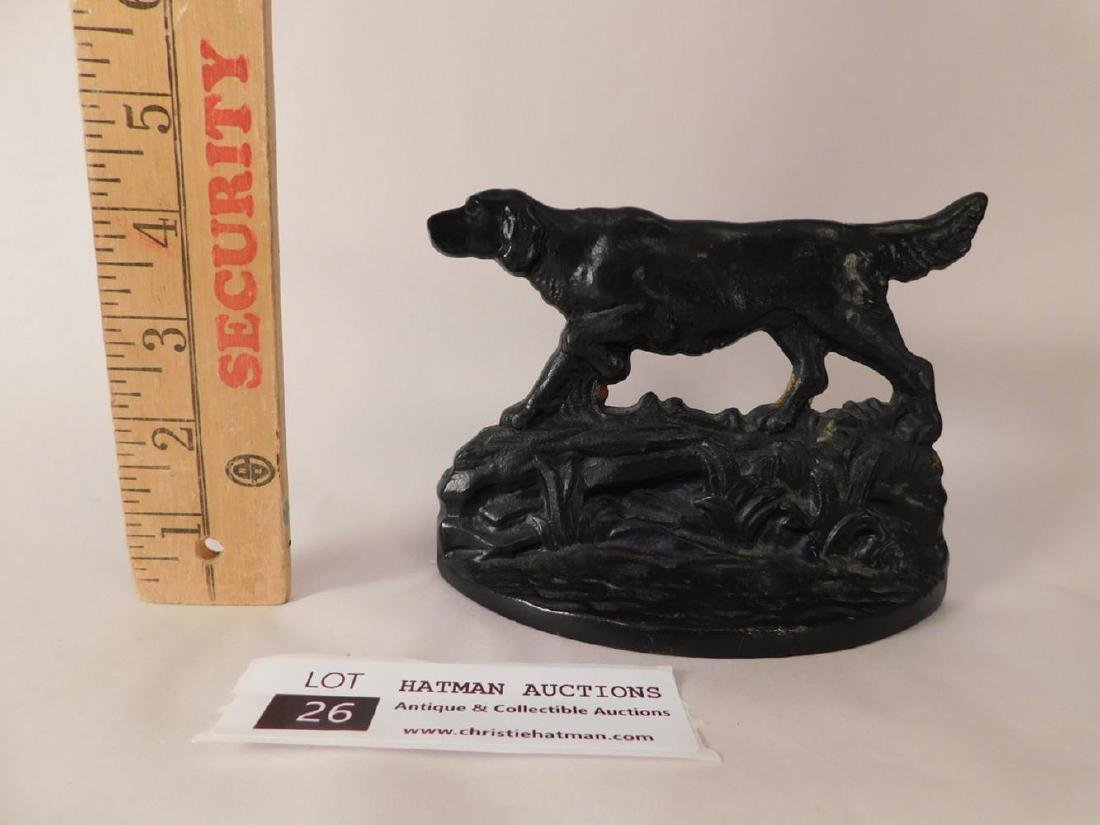 CAST IRON VINTAGE DOG DOORSTOPS BOOKENDS ANTIQUE HOUND - 2