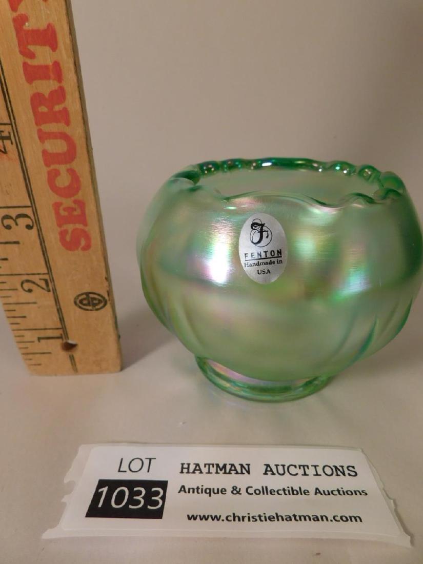 FENTON ART GLASS USA HANDPAINTED - 2