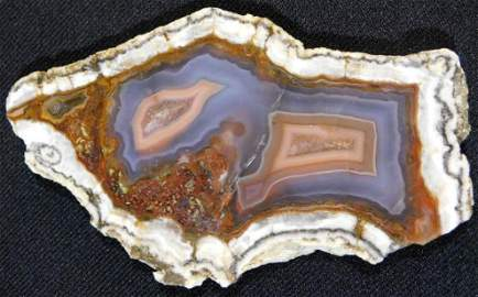 GREAT PATTERNED AGATE ROCK STONE LAPIDARY SPECIMEN