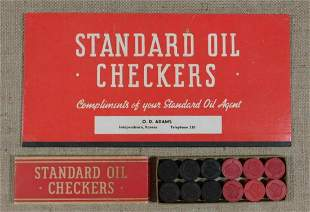 STANDARD OIL CHECKERS PROMOTIONAL GAME