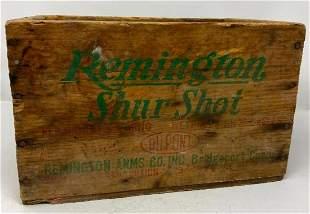 REMINGTON SHUR SHOT AMMUNITION BOX WOODEN CRATE