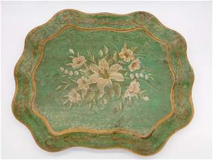 PAINTED TRAY VINTAGE ANTIQUE
