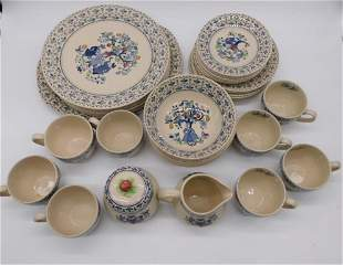 STAFFORDSHIRE COMPLETE SET IRONSTONE SUGAR AND SPICE