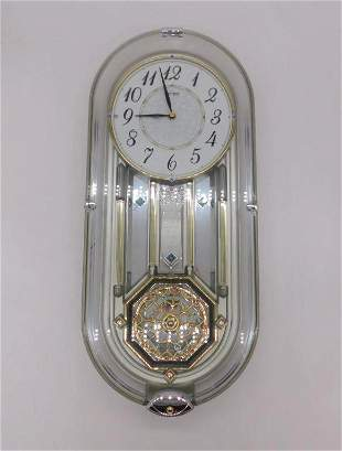 MUSICAL WALL CLOCK VINTAGE ANTIQUE ESTATE COLLECTION