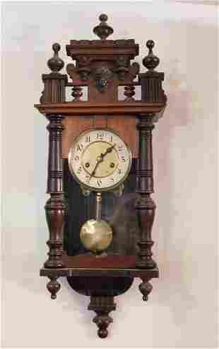 ANTIQUE WOODEN WALL CLOCK VINTAGE ANTIQUE ESTATE