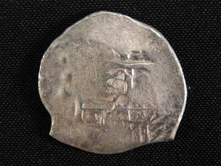 SILVER COIN FROM 1641 'CONCEPCION' SHIPWRECK 13 GRAMS