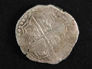 SILVER COIN FROM 1641 'CONCEPCION' SHIPWRECK 22 GRAMS
