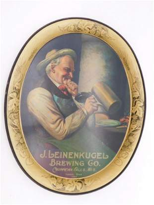 J LEINENKUGEL BREWING CO VINTAGE ADVERTISING TRAY