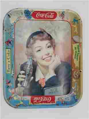 VINTAGE COCA-COLA ADVERTISING TRAY ANTIQUE 1950S