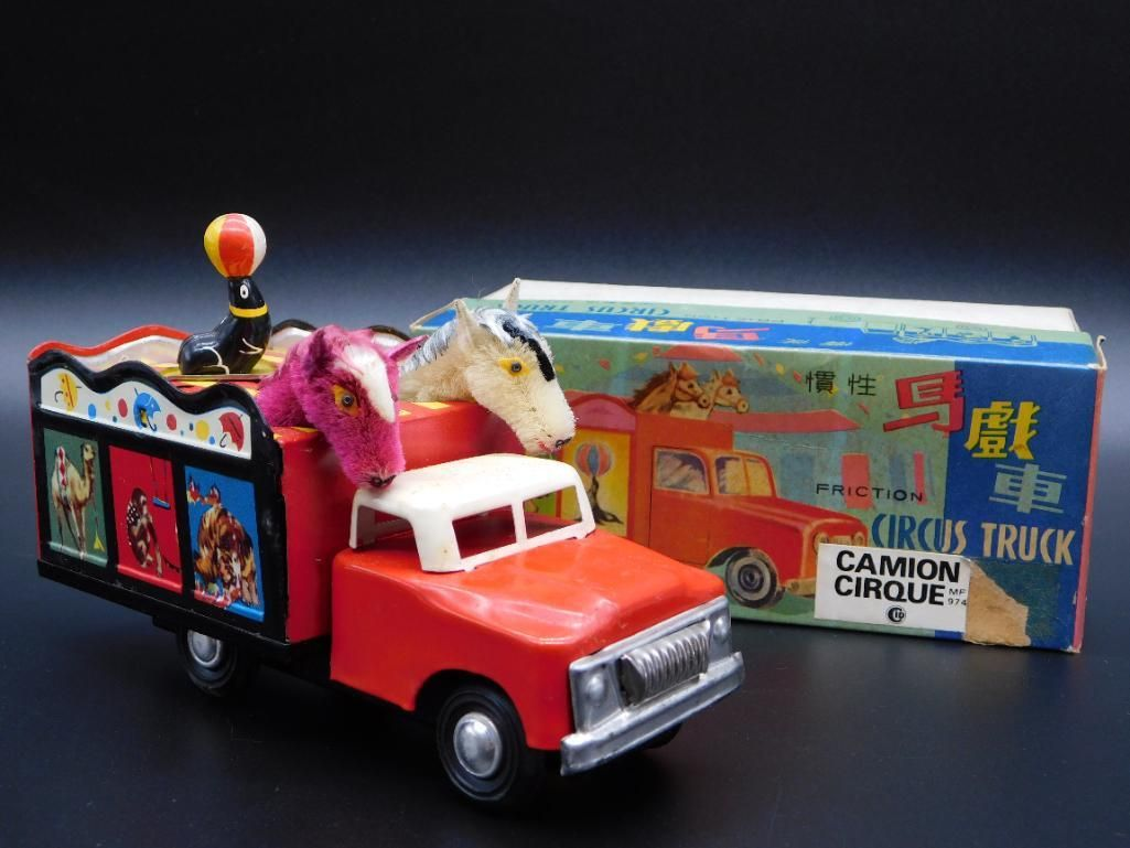 CAMION CIRQUE FRICTION CIRCUS TRUCK TOY TIN LITHO