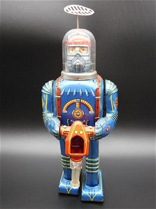 Daiya Japan Tin Space Conqueror Astronaut Robot