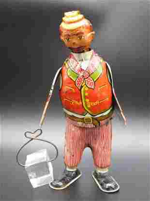 RED THE ICE MAN MARX TOY TIN LITHO WINDUP VINTAGE