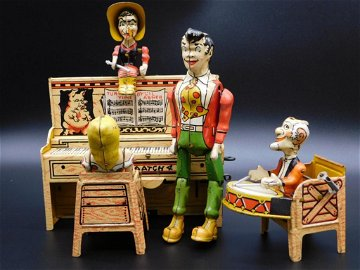 UNIQUE ART LIL ABNER AND THE DOGPATCH BAND TOY TIN