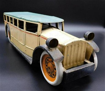 RARE SCHEIBLE TOURING BUS PRESSED STEEL 1920S