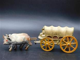 COVERED WAGON TOY VINTAGE ANTIQUE COLLECTIBLE
