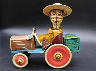 MARX MORTIMER SNERD CAR WITH DRIVER TOY VINTAGE ANTIQUE