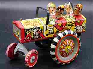 MARX SPECIAL DELIVERY CAR WITH MEN TIN TOY VINTAGE