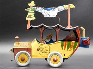 HI-WAY HENRY 1920S JALOPY COMIC WORKING BORGFELDT TOY