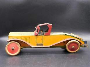 MARX CAR WITH DRIVER TIN TOY VINTAGE ANTIQUE
