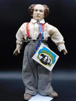 THE THREE STOOGES LARRY DOLL TOY VINTAGE ANTIQUE
